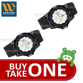Wawawei GEMIUS ARMY Military Sport Style Army Canvas Strap WatchBUY 1 TAKE 1 (Black/Silver) Price Philippines