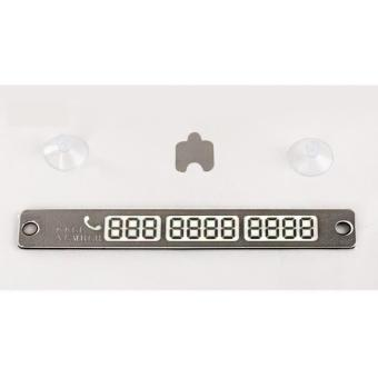 Wawawei Temporary Parking License Luminous Parking Card Car PhoneNumber(Silver) Price Philippines