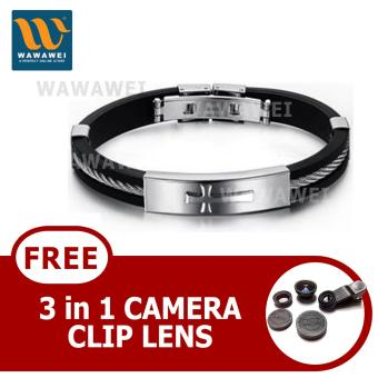 Wawawei Unique Best Fashion Cross Titanium Steel Stainless SteelBracelet with free Camera Clip Lens