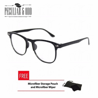 Wayfarer Oversized Classic Clear Black Frame_626 Phantos Optical Frame Replaceable Lens - Unisex