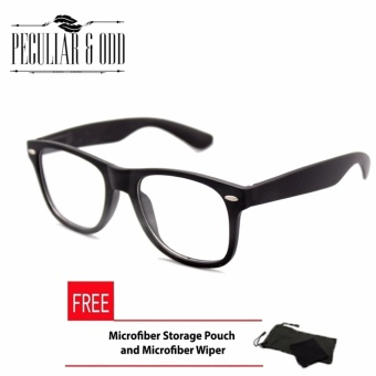 Wayfarer Oversized Classic Clear Lens Black Frame Unisex_8839_FOptical Frame Replaceable Lens - Unisex