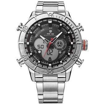 WEIDE WH6308 Outdoor Sports Waterproof Men's Stainless Steel StrapWatches - intl Price Philippines