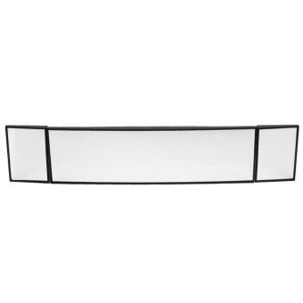 Wide Angle Car Rear View Interior Curve Mirror with 2 Adjustable Mirrors - intl