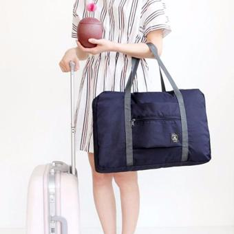 Wind Blows Folding Carry Bag (Navy Blue)