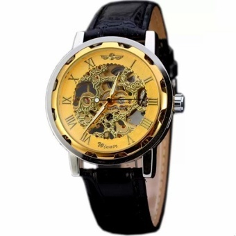 Winner Classic Men Automatic Mechanical Leather Straps Watch (Sliver) - intl - 5