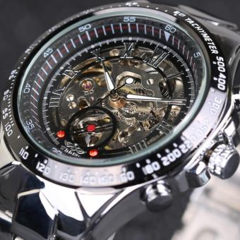 WINNER New Top Brand Luxury Sport Clock Men Automatic Watch Skeleton Military Mechanical Relogio Male Montre Watch Mens Relojes - intl