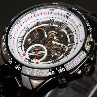 Winner Skeleton Mechanical Wristwatch Automatic Steel Watch(WhiteGold) - intl
