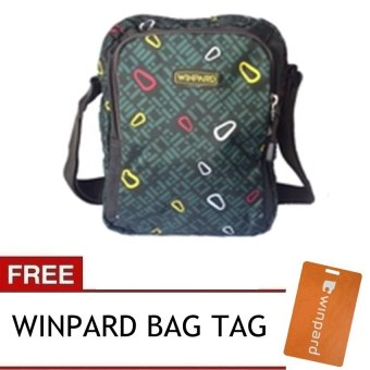 Winpard 6725 Shoulder Bag (Dark Green) with Free Winpard Bag Tag