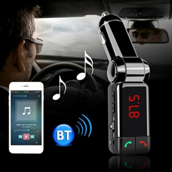 Wireless Bluetooth V2.0 Stereo Car Kit FM Transmitter MP3 USB DiskPlayer - intl
