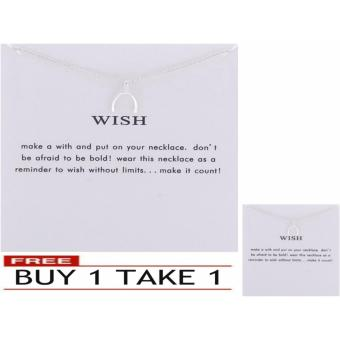 WISH pendant necklace silver dipped 17g BUY 1 TAKE 1
