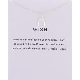 WISH pendant necklace silver dipped 7g