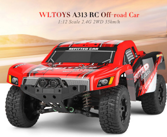 WLTOYS A313 2.4G 2WD Rechargeable RC Short Truck Off-road Car RTR(Red) - intl