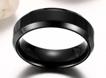 Women And Men Stainless Steel Rings Band Style For Couple Gifts(black) - 5