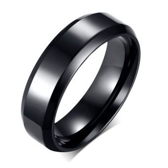 Women And Men Stainless Steel Rings Band Style For Couple Gifts(black)