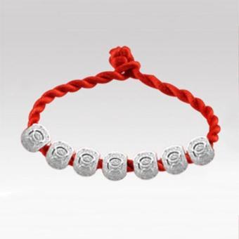Women Men Good Luck Beads Bracelet Red String Bracelet Jewelry Gift - intl