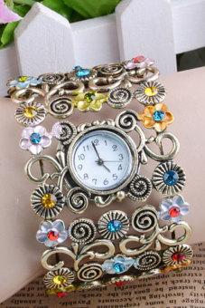 Women Rhinestone Bracelet Watch Jewelry