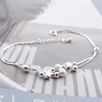 Women Silver Plated Chain Anklet Beads Ankle Bracelet for FootJewelry - intl - 3