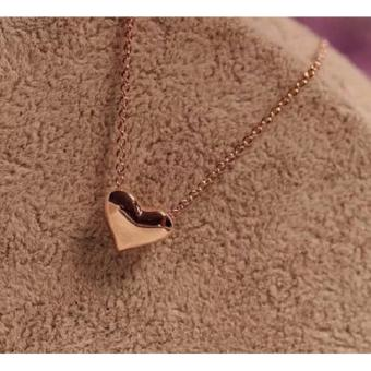 Women's Fashion Heart Pendant Gold Dipped Necklace 4g