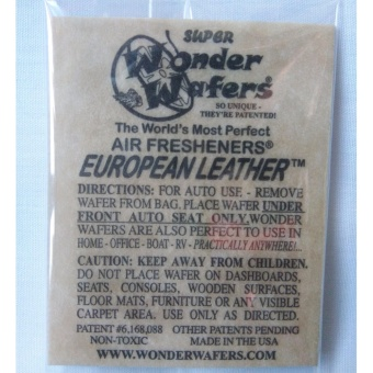 Wonder Wafers Air Fresheners European Leather Scent (10 packs) Price Philippines