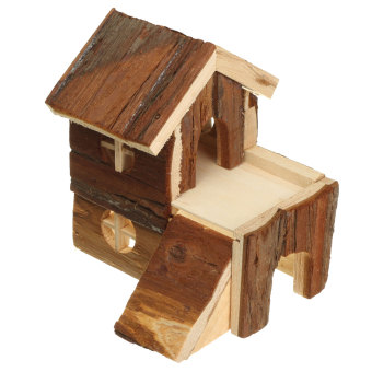 Wooden House Villa Cage Exercise Toys for Hamster Hedgehog Mouse Rat Guinea Pig 15*14*15cm - Intl Price Philippines