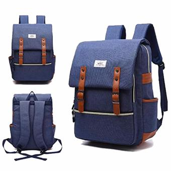 WOWANG Unisex Leisure Lightweight Travel Laptop Backpack Men OxfordCloth Business Backpack (Blue)