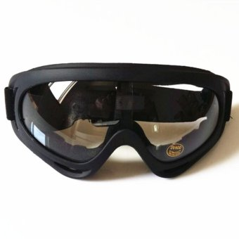 X400 UV Tactical Bike Goggles Ski Skiing Skating Glasses Sunglasses(Transparent) - intl