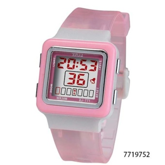 Xinjia Kid's Digital Waterproof Plastic Strap Watch XJ-771 (Clear Pink )