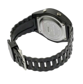 Xinjia XJ-723 Digital Waterproof Men's Black Plastic Strap Watch (Black) #0127 - 2