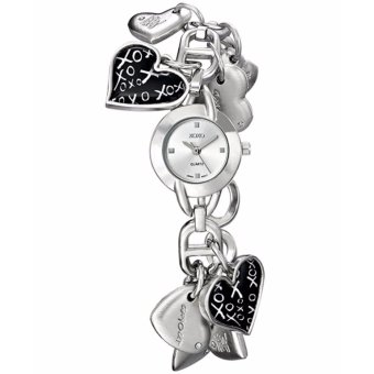 XOXO Women's XO7030 Silver Dial Silver-tone Heart Charms Watch -intl