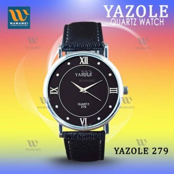 Yazole #279 (Black) High Quality Strap Fashion Easy-matchingCompact Quartz Wristwatch Price Philippines