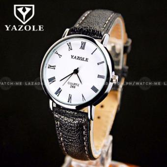 Yazole Men's Classic Blue Ray Glass European Leather Strap Watch Price Philippines