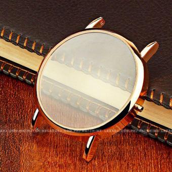 Yazole Men's Classic Deluxe Black Leather Strap Watch - 5