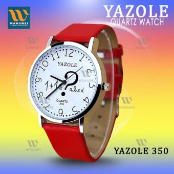 YAZOLE (Red) Classical Kids Leather Band Fashion Girls JokerStudent Sport Quartz Wrist Watch #316 Price Philippines