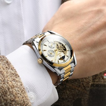 Yeguang genuine porous Tuo flywheel full men's watch automatic mechanical watch