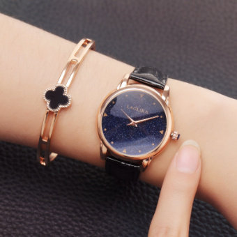 Yeguang Korean-style leather belt student Waterproof with diamond watch women's watch