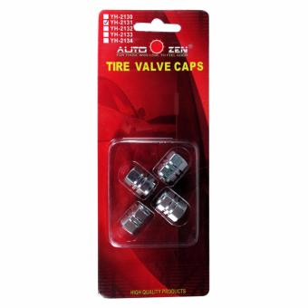Yh Tire Valve Cap Silver 3 layer (4 Pcs/Set)