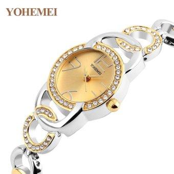 YOHEMEI New Fashion Ladies Watch Watches Luxury Top Brand ElegantWristwatches for Women Rhinestone Quartz Watch 0192 - Gold - intl - 2