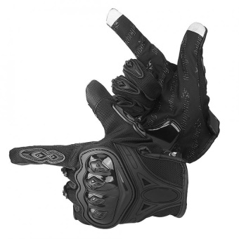 YOSOO 1 Pair Motorcycle Motocross Cycling Full Finger ProtectiveTouch Screen Gloves Black M - intl