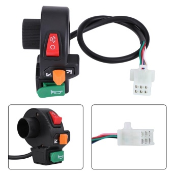 YOSOO 3in1 Motorcycle Headlights Horn Turn Signal Lights Switch for 22mm Diameter Handlebar - intl