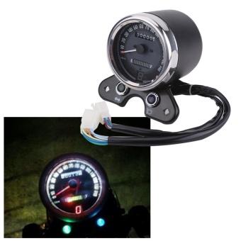 YOSOO Universal Motorcycle Odometer Speedometer Gear DigitalDisplay 9.5cm Mounting Hole - intl - 2