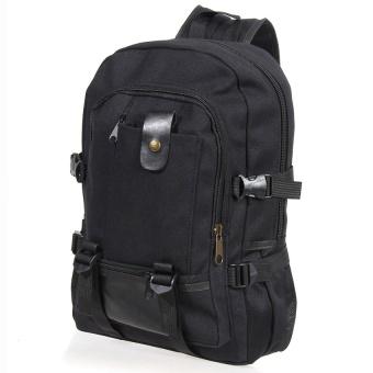 YSLMY 2016 Fashion Casual Men Canvas Backpack School Rucksack Vintage Satchel Shoulder Laptop Bag Travel-Black - intl - 3
