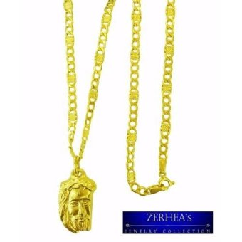 ZERHEA's 18k Nazarene's Head with 3 in 1 Chain Necklace
