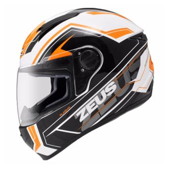 Zeus Full-Face ZS-811 Helmet (White/AL5Orange)