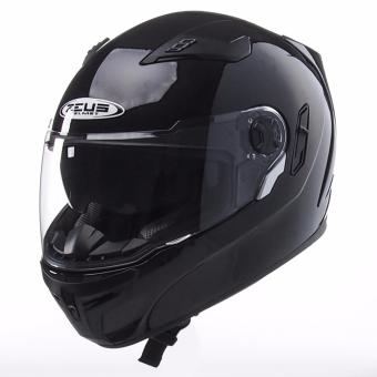 Zeus Full-Face ZS-813 Solid Helmet (Black)