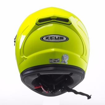 Zeus Full-Face ZS-813 Solid Helmet (Hi-Viz Yellow) - 3