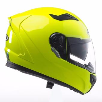 Zeus Full-Face ZS-813 Solid Helmet (Hi-Viz Yellow) - 4
