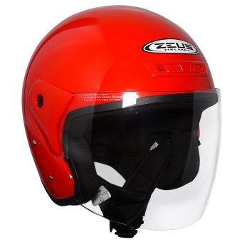 Zeus Open Face ZS-506 Jet Helmet (Red)