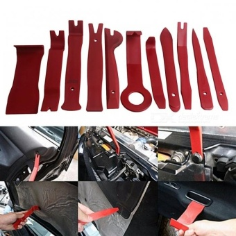 ZIQIAO Car Radio Dash Audio Removal Pry Tool (11Pcs/Set) - Wine Red- intl