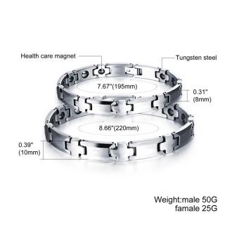 ZUNCLE Couple Wolfram Steel Healthy Bracelet(Silver)