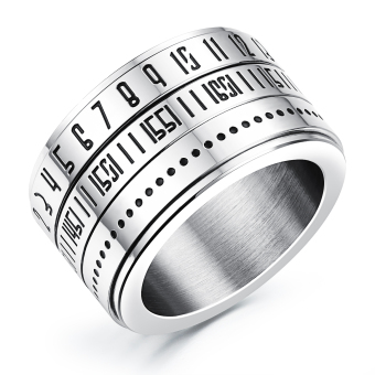 ZUNCLE Lord of the Rings Retro Roman numerals Men's rings- Free rotation(Silver)